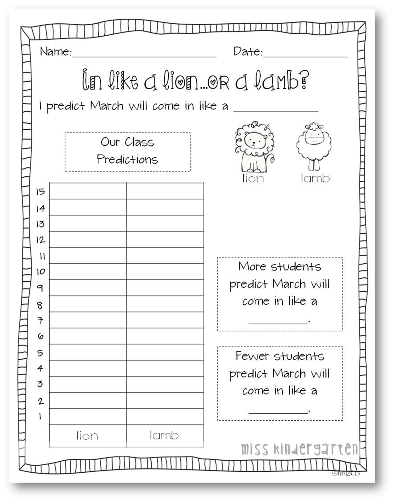 Lion Worksheet Science
