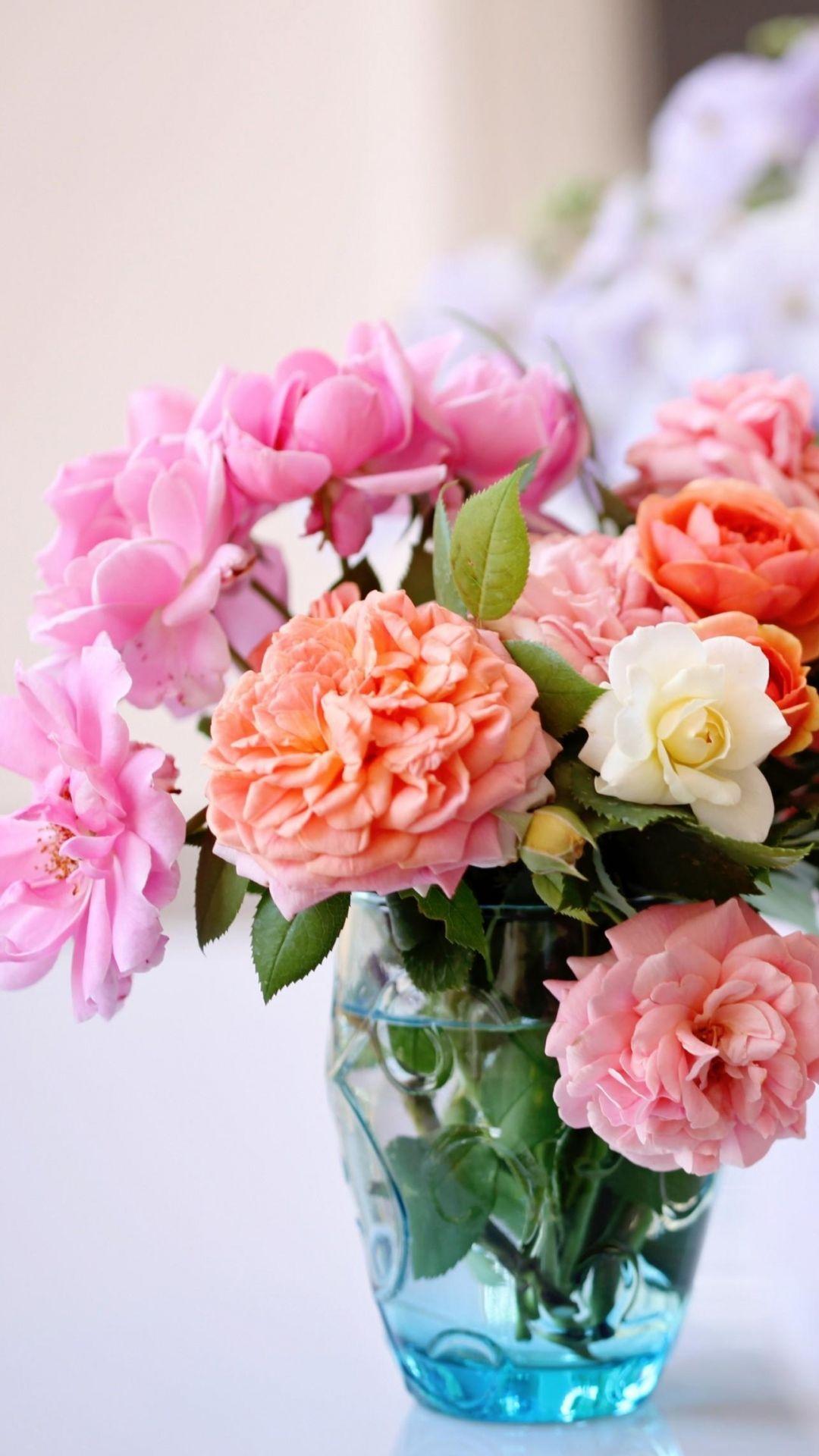Download Wallpaper 1080x1920 roses, flowers, garden