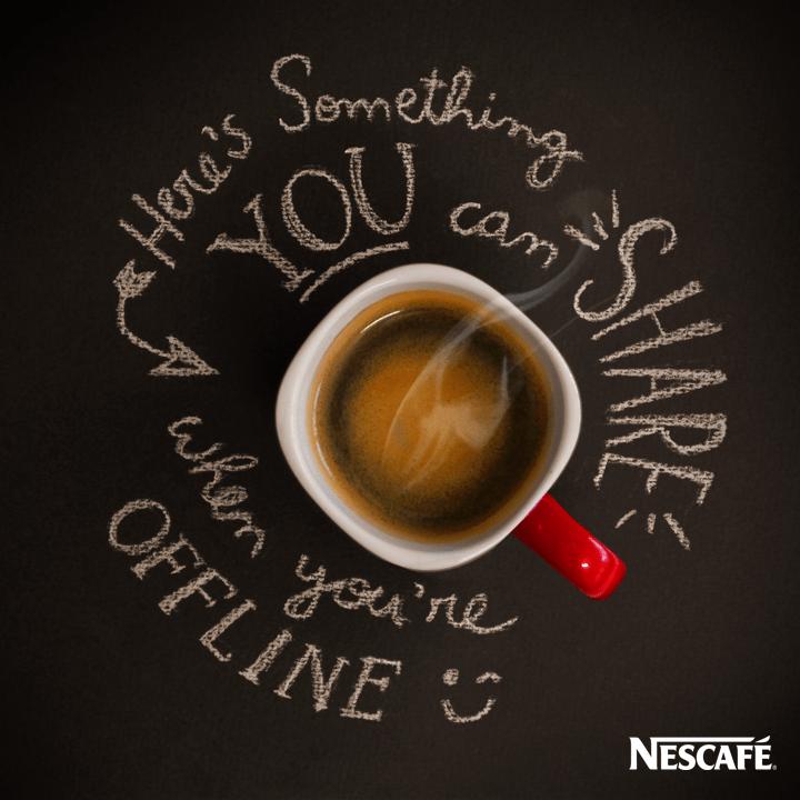 NESCAFÉ, coffee, advertising, idea, illustration, draw