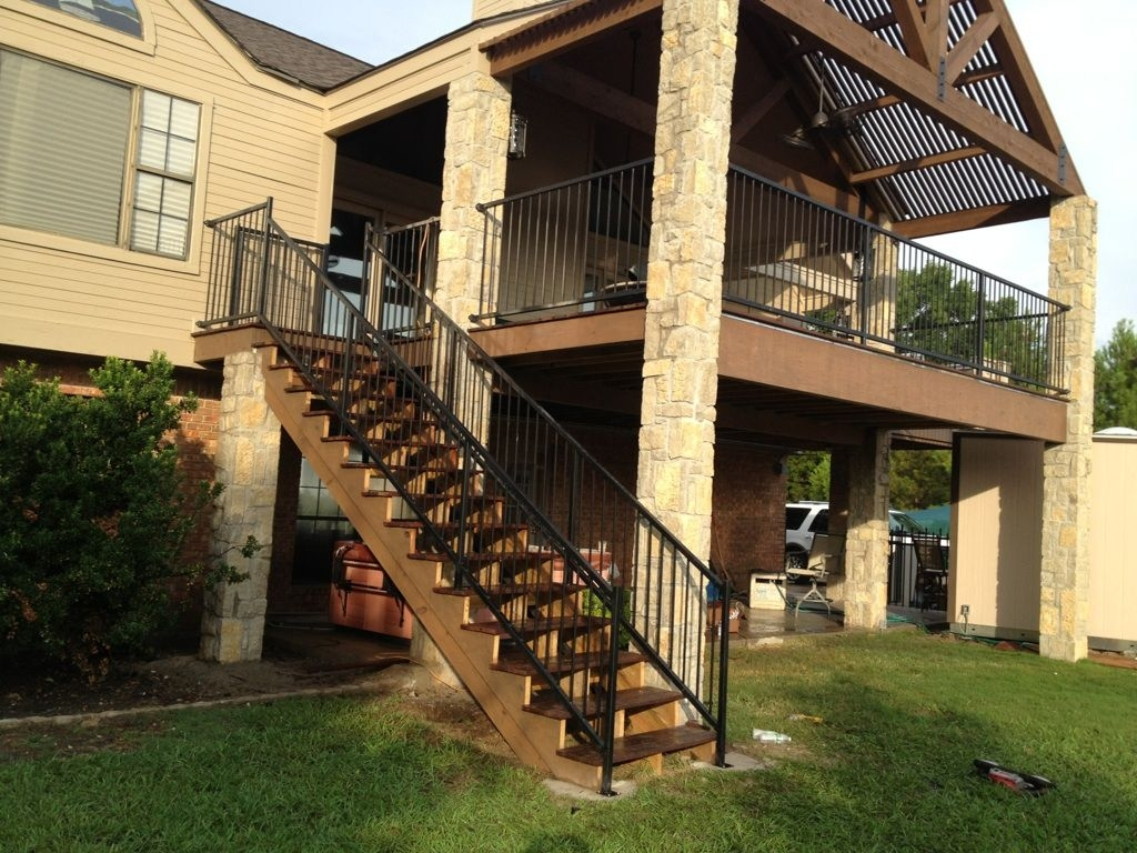 Balcony Railings Stairs Decks And Arbors Pinterest   Metal Staircases And Balconies