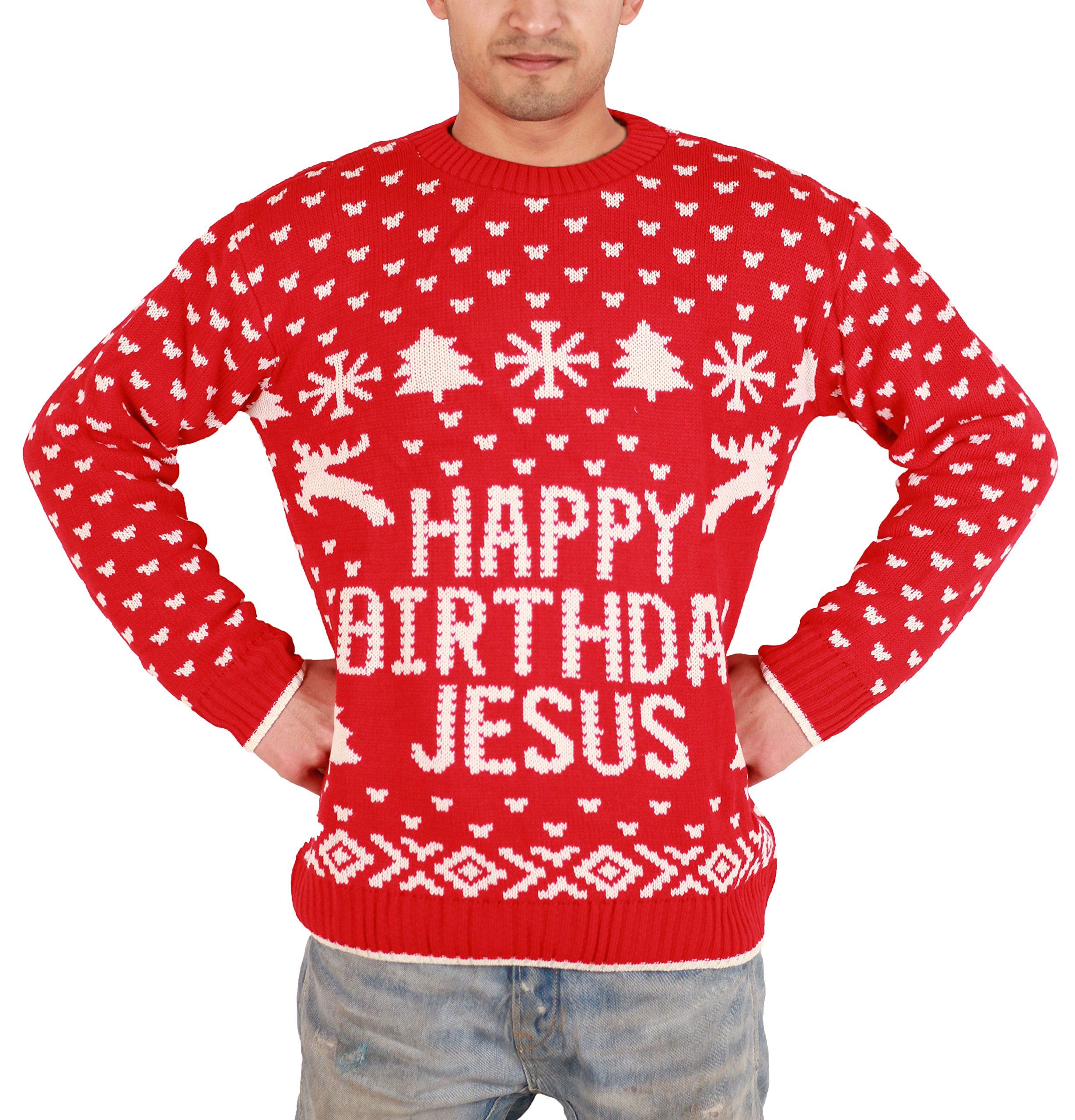 Happy Birthday Jesus Ugly Christmas Sweater /Knitted