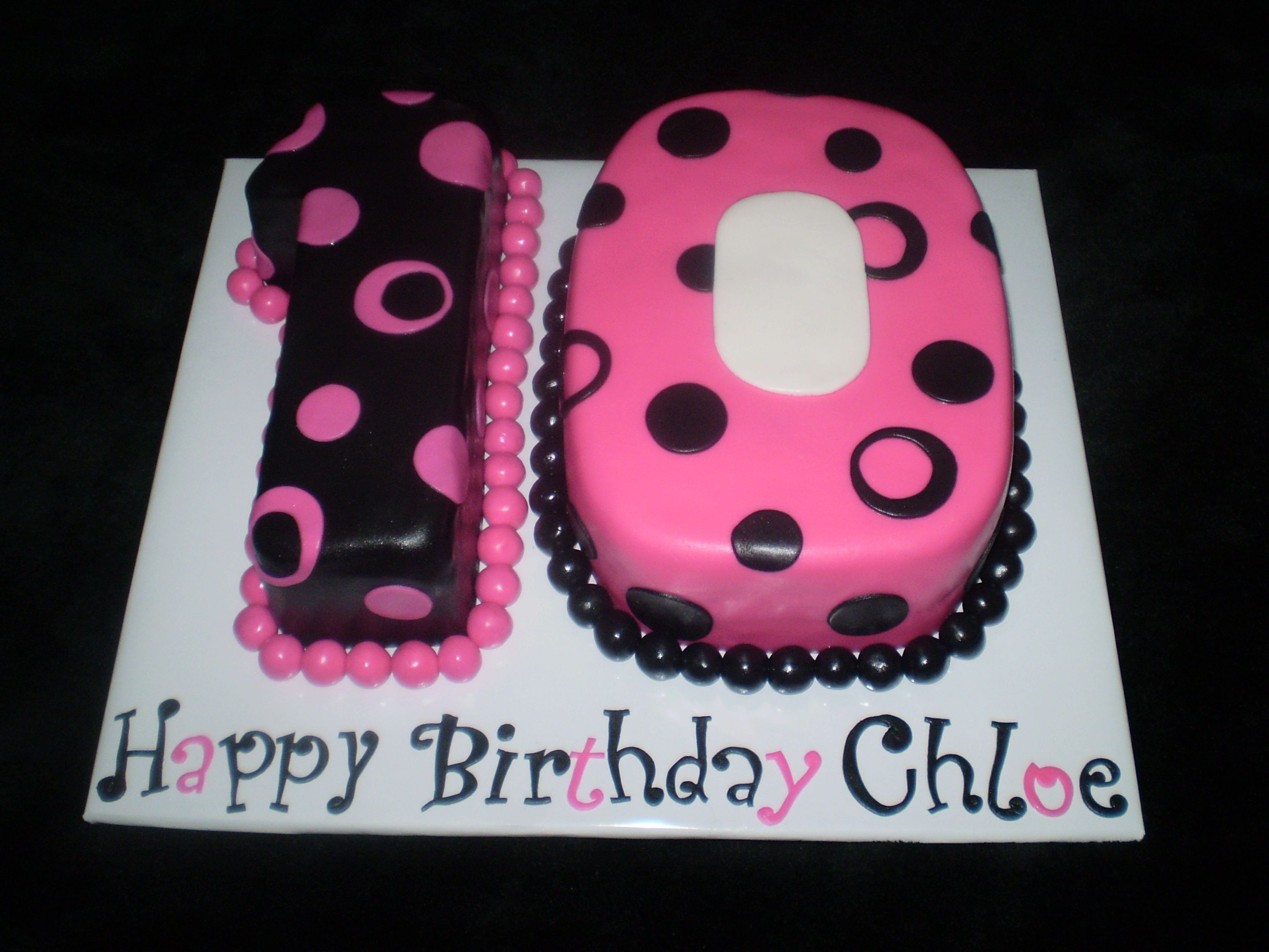 Spoted Number Ten 10 Cake