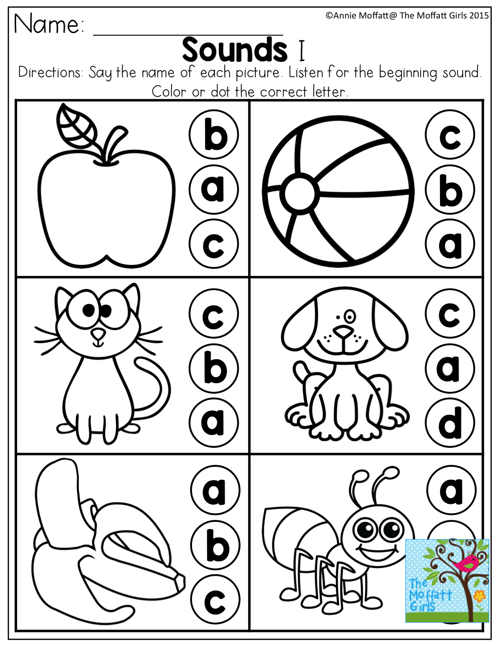 Beginning Sounds And Much For For Pre K To 3rd Grade