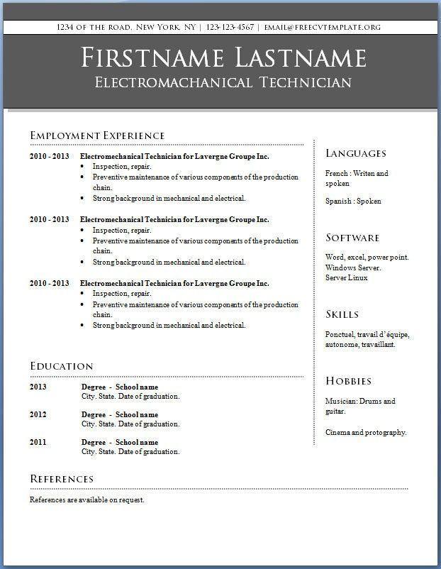 Professional Resume Templates 2013 | Resume Format Download Pdf