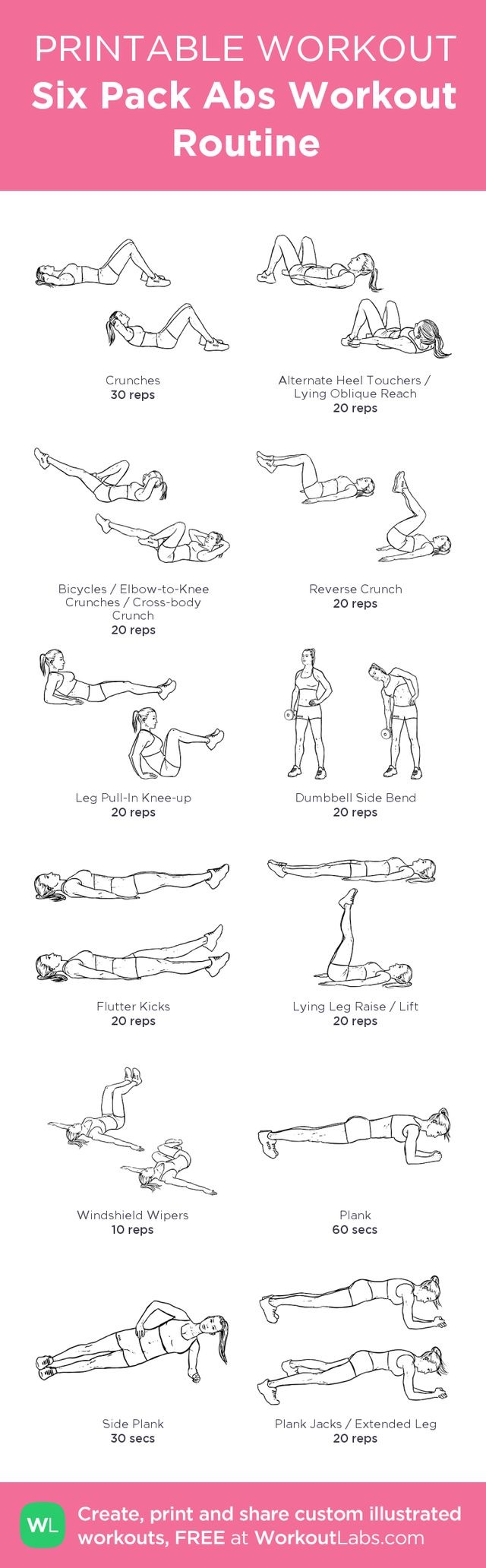 Free Ab Workout Plans Mh Summer Sixpack Challenge The Dumbbell Circuit Posted By Advancedweightlosstips Com Workouts