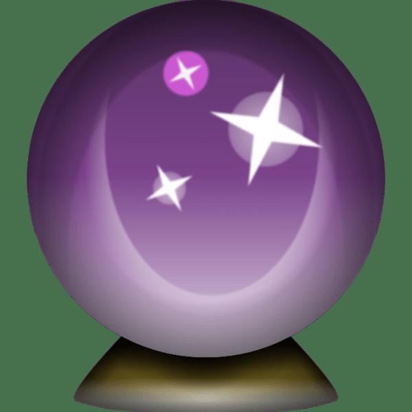 Download high resolution Crystal Magic Ball Emoji Tell