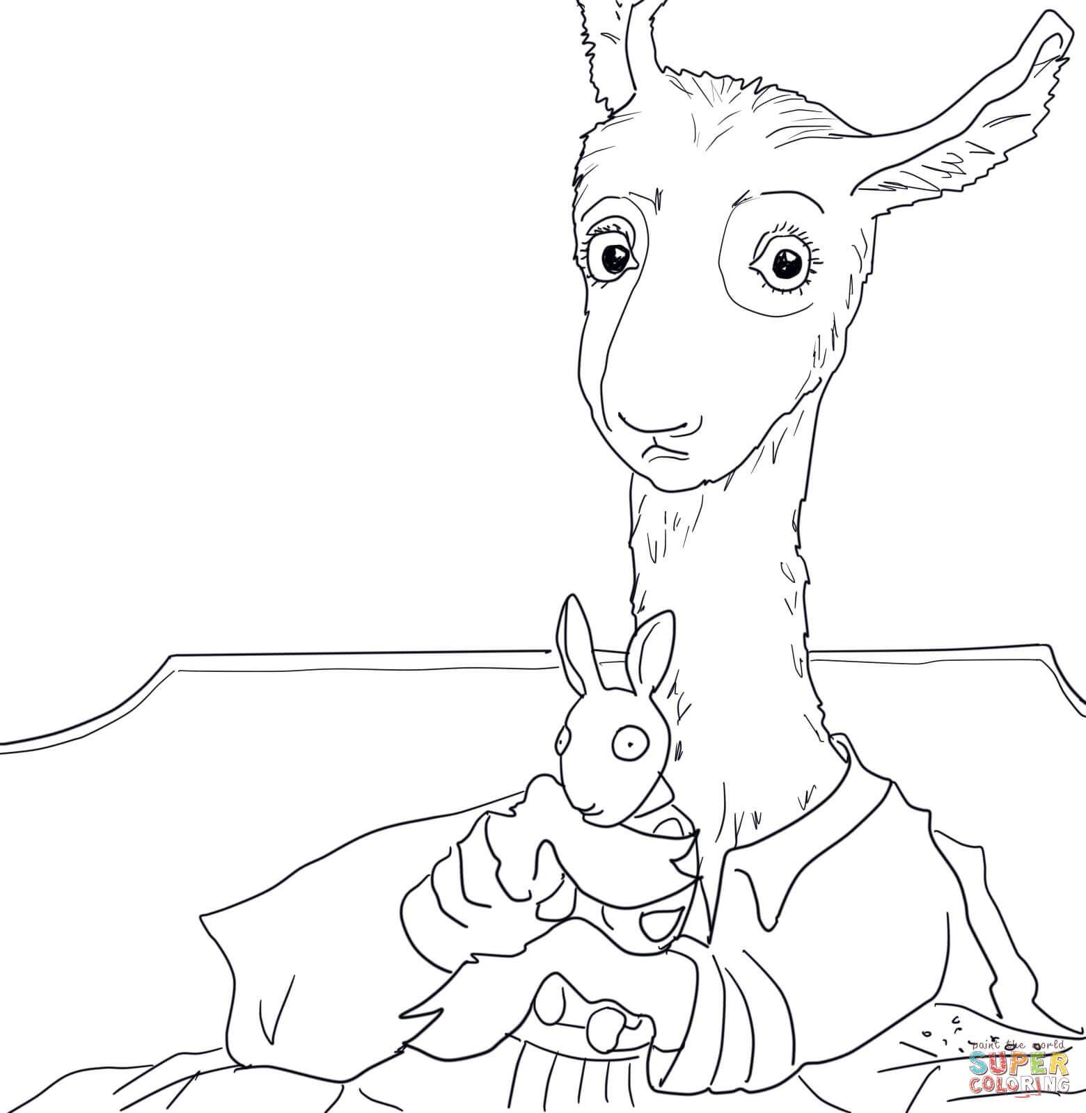Adult Llama Llama Red Pajama Coloring Page Printable Pages