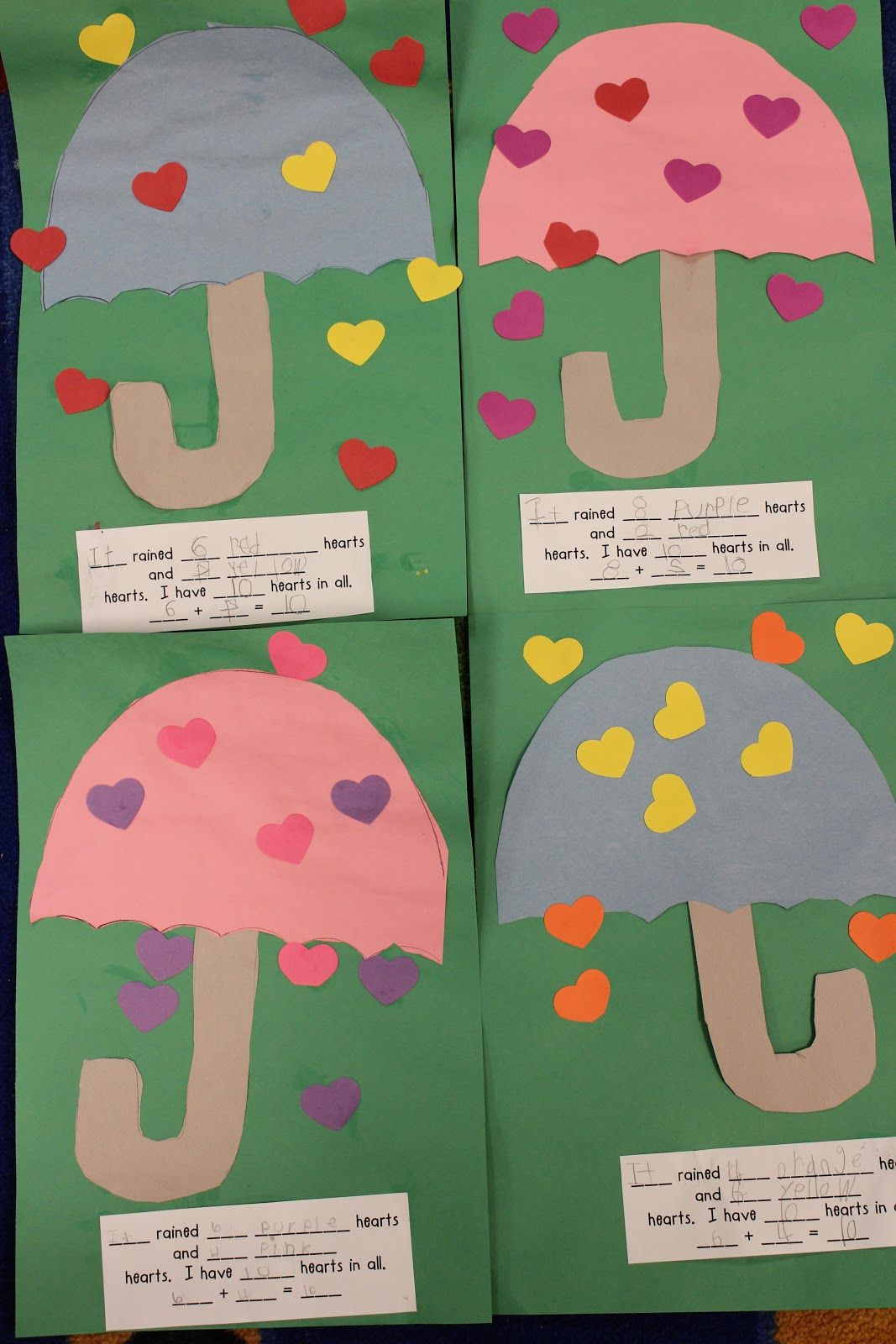 Cute Valentines Addition Activity Could Go With The Book The Day It Rained Hearts