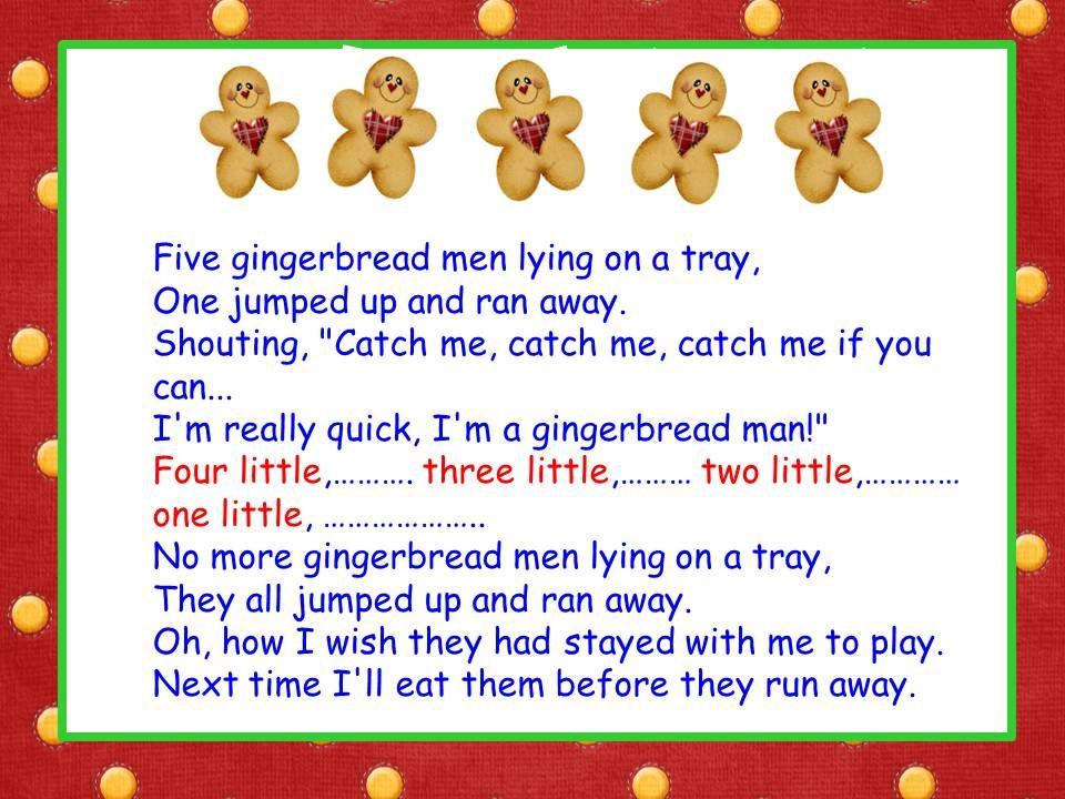 Five Little Gingerbread Men song Gingerbread man song