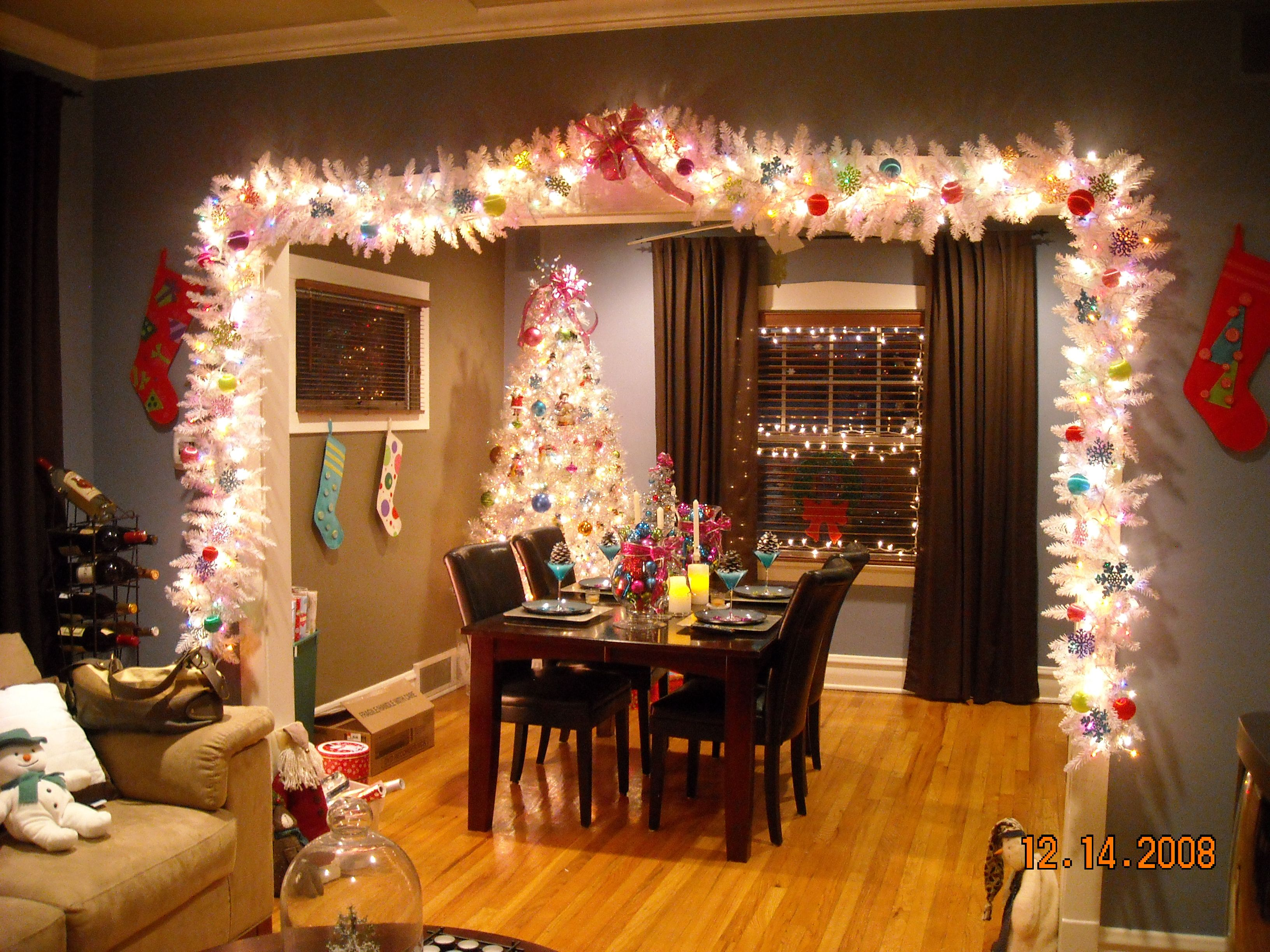 Christmas Decorations. I want this around my window
