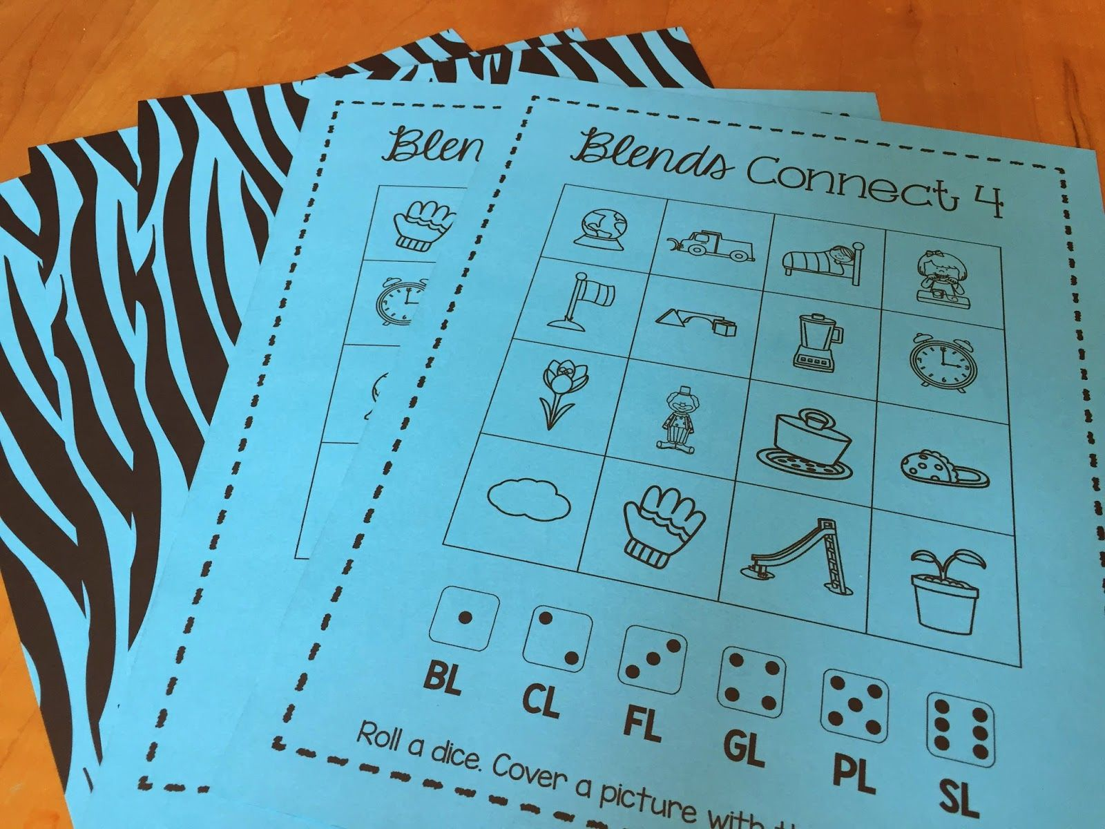 Fun Activities For Teaching Beginning L And R Blends Get This Connect 4 Game For Free