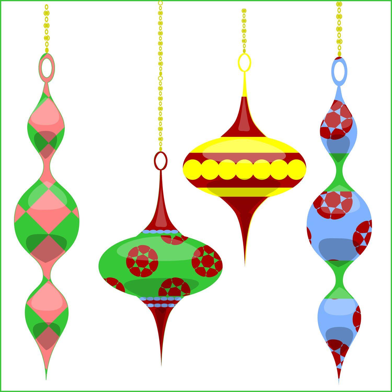 Christmas Clipart Christmas Tree Ornaments clip art, for