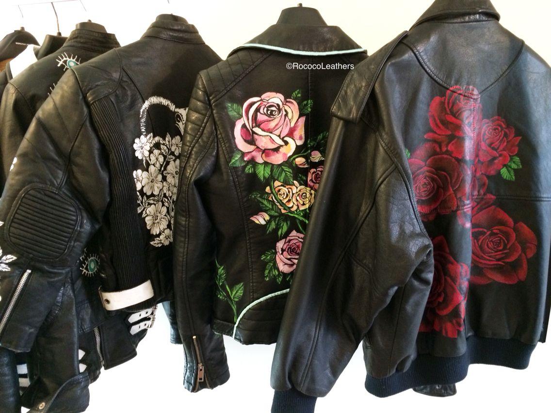 Hand painted leather jackets handpainted bespokejacket