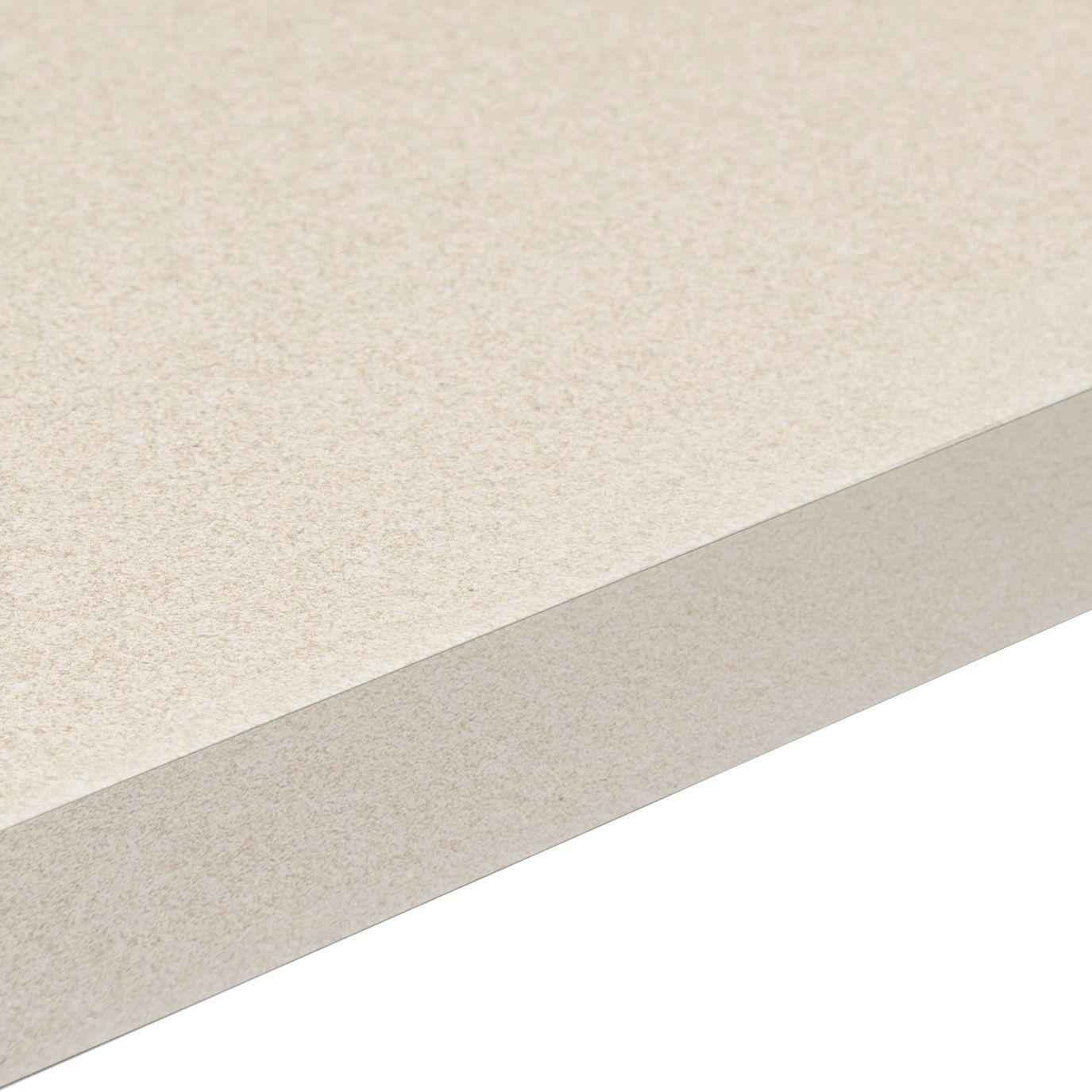 38mm Aura White Laminate Gloss Granite Effect Square Edge