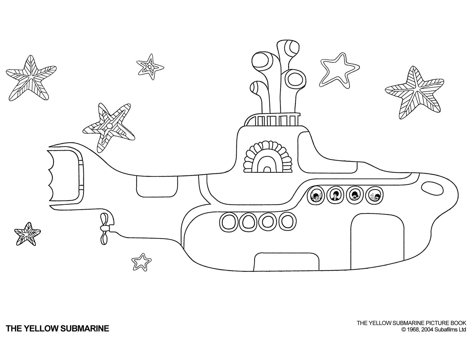 yellow submarine coloring pages and submarines on pinterest