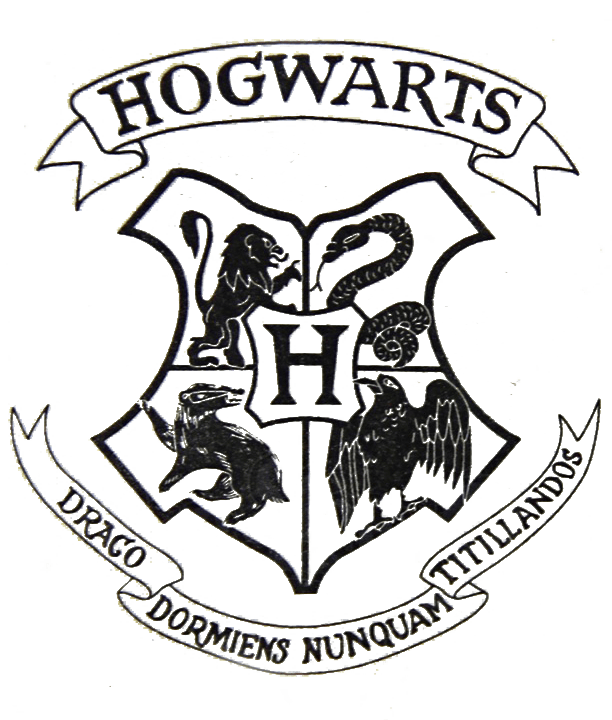 Transparent Hogwarts crest file from a harry potter letter