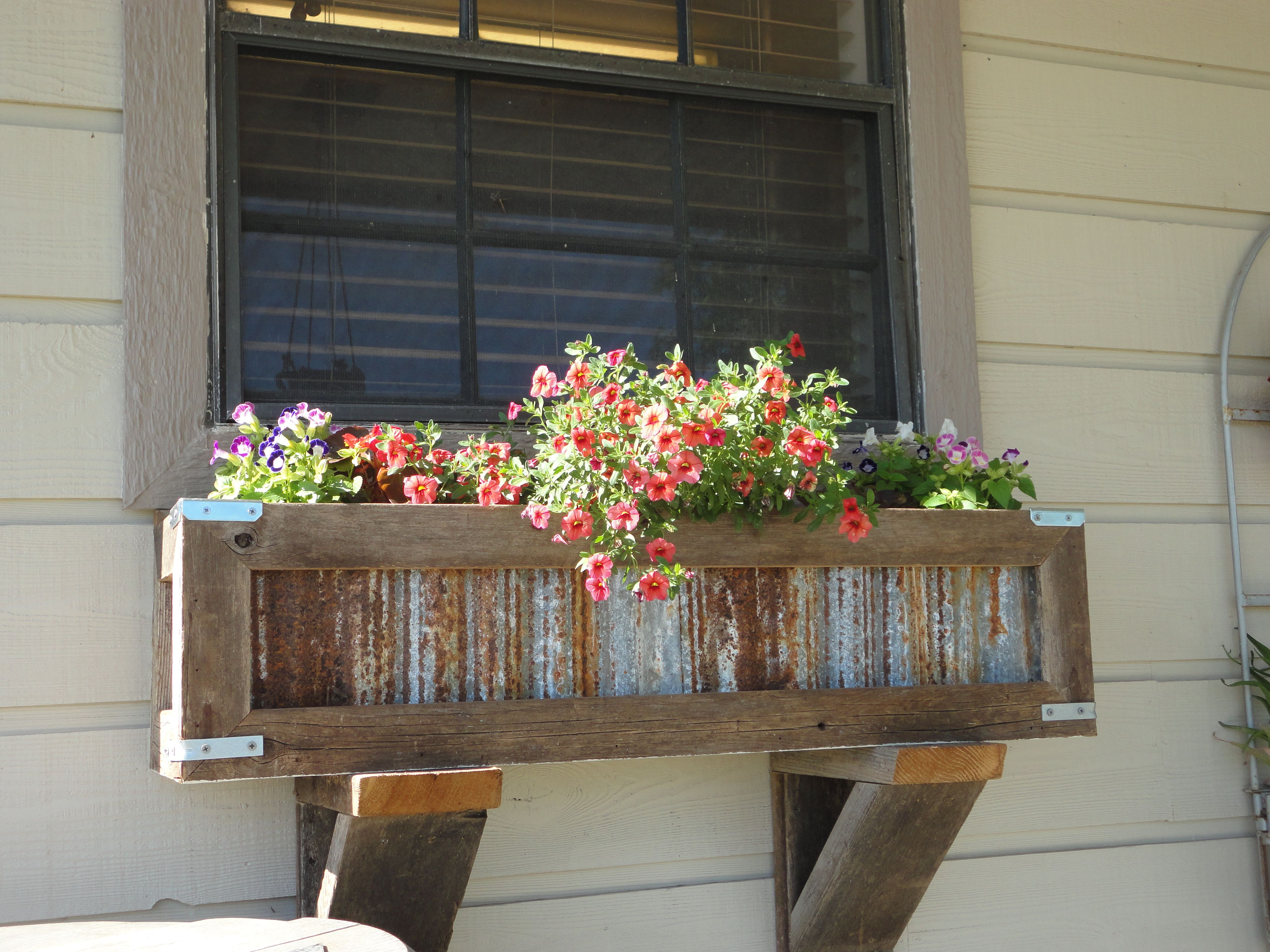 Handcrafted Rustic Window Box Planter for kitchen window