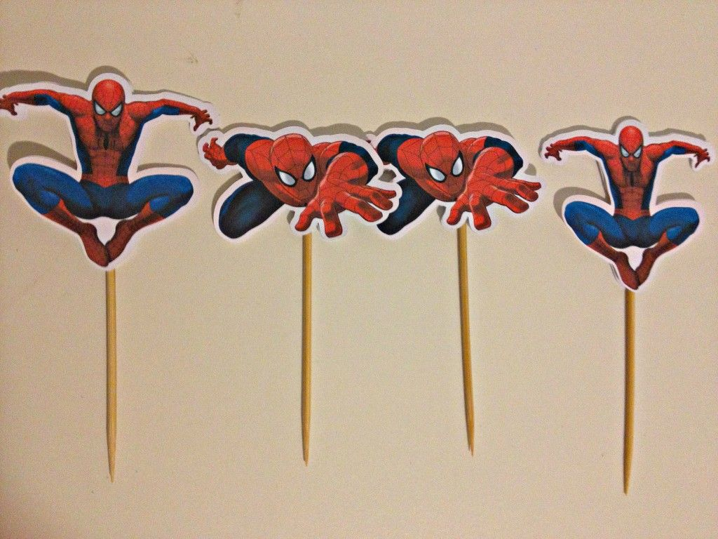 Spiderman Superhero Cupcake Toppers Diy How To Make At Home