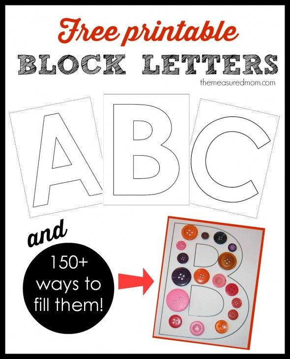 Printable Alphabet Letters On Pinterest Printable