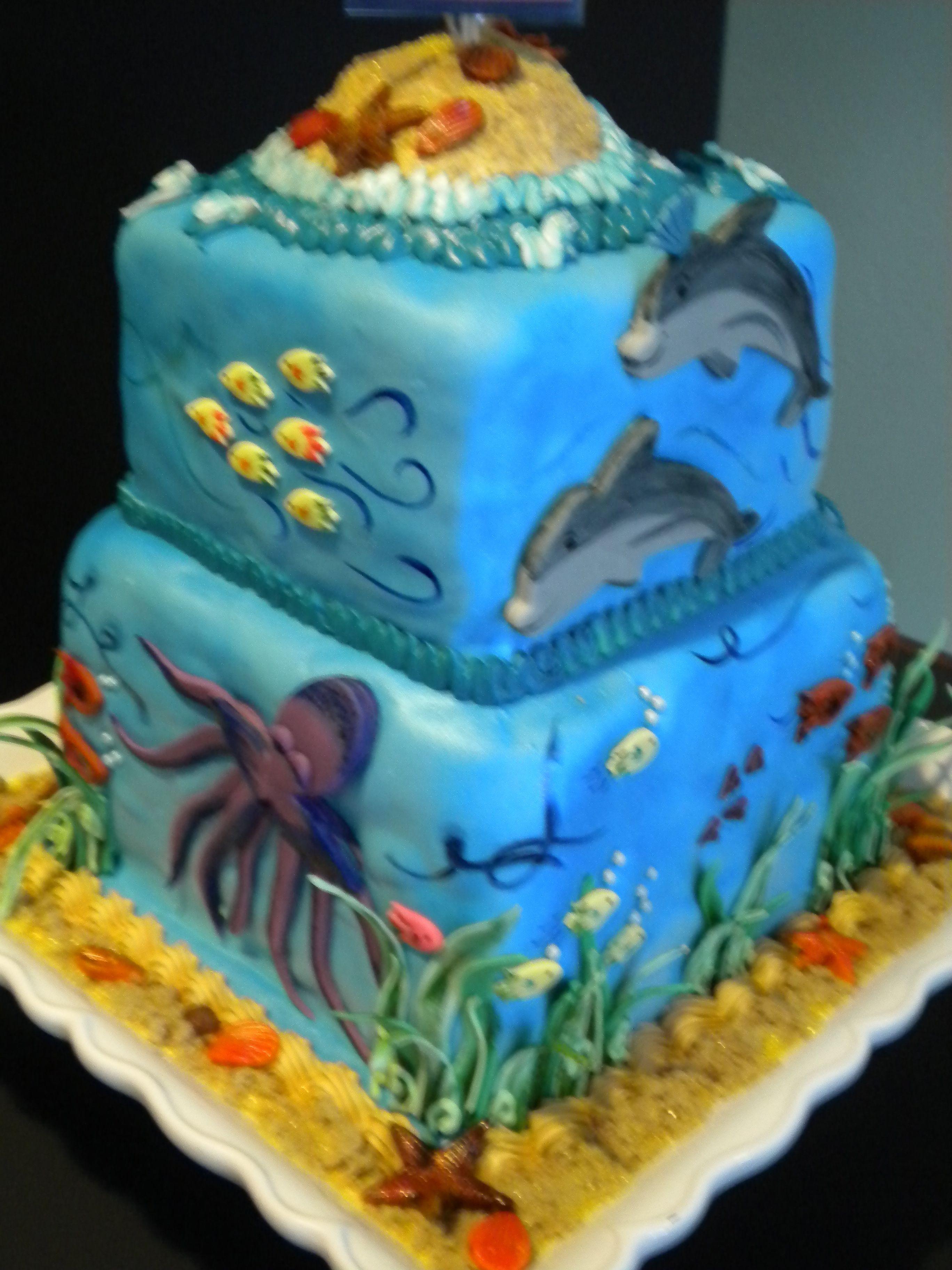 Happy graduation...marine biology cake. I'm over here
