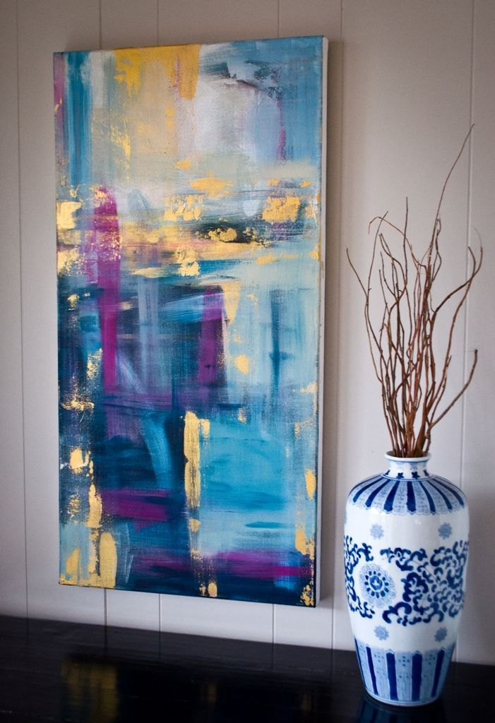 """""""A Night in Paris"""" by Kellie Morley 18x36 Abstract"""