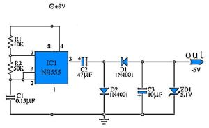 9 to 5 Volt DC Converter | 555 Circuit | Pinterest | Html, Circuit diagram and Arduino