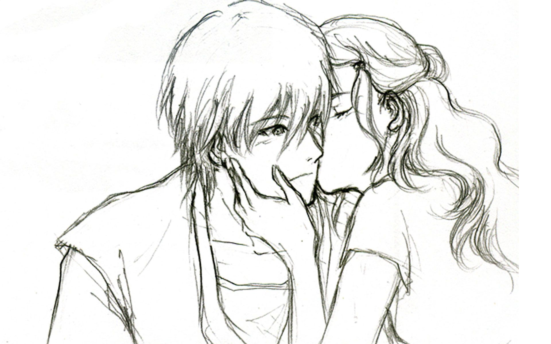 cute love drawings for him Romantic & Sad Couple