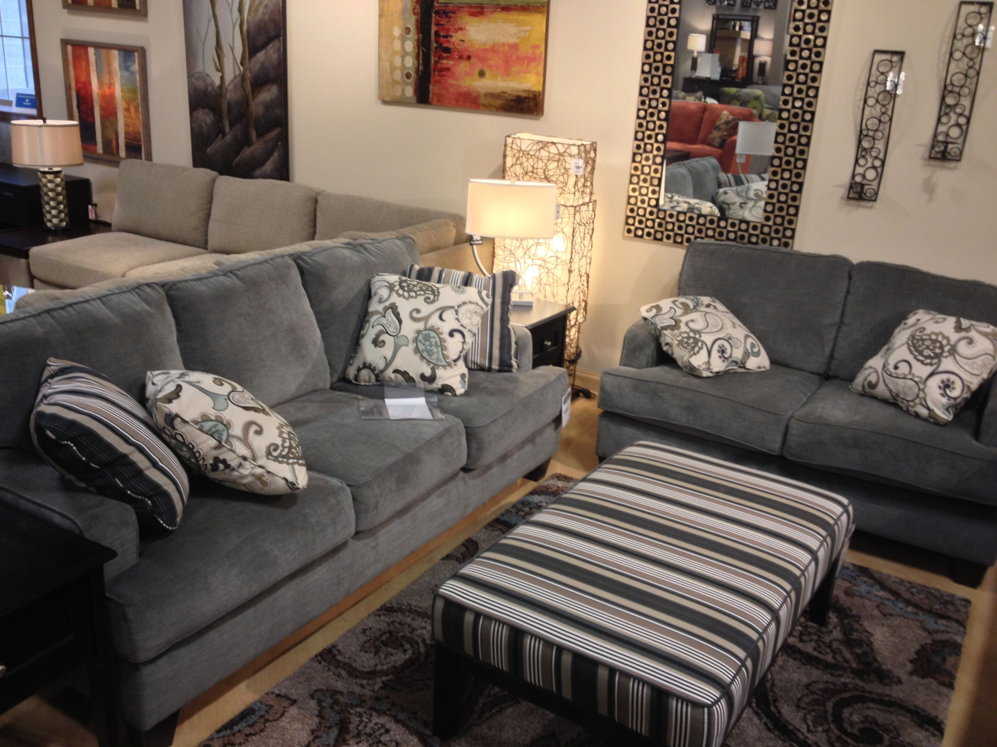 Yvette Steel Couch And Loveseat At Ashley Furniture TriCities Metro Modern Pinterest