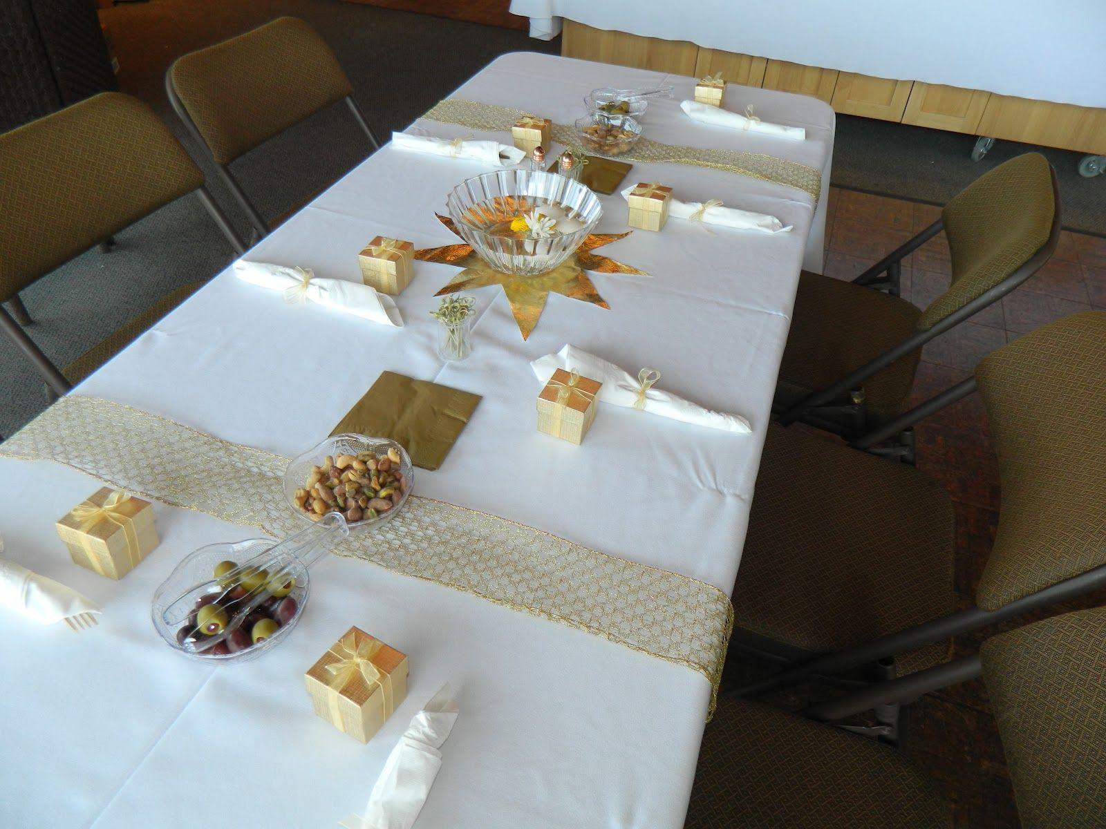 50th Wedding Anniversary Table Decorating Ideas