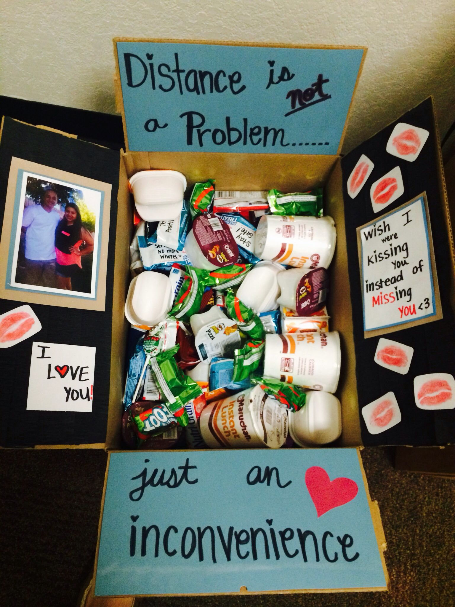 Creative College Care Package Ideas Distance, Boyfriends