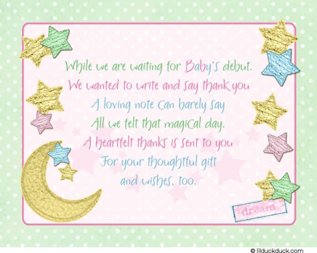 Baby Shower Thank You Cards Printable
