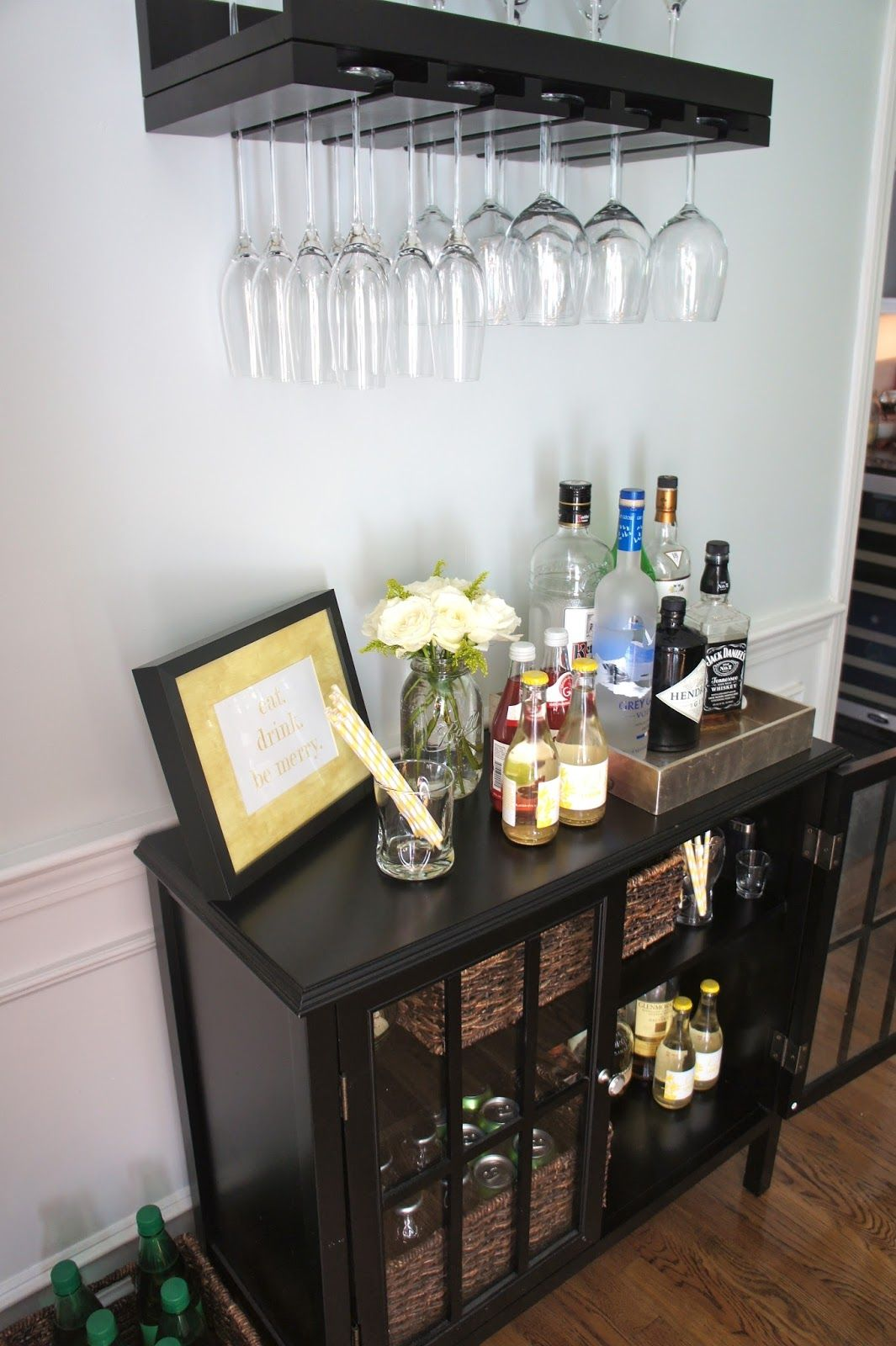 Home with Baxter An Organized Home Bar Area \\ outdoor or