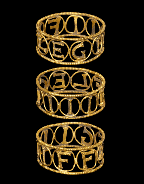 Roman Gold 4th Legion Flavia Felix Ring, 1st2nd Century