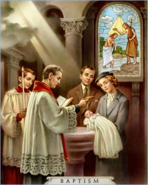 Image result for catholic baptism images