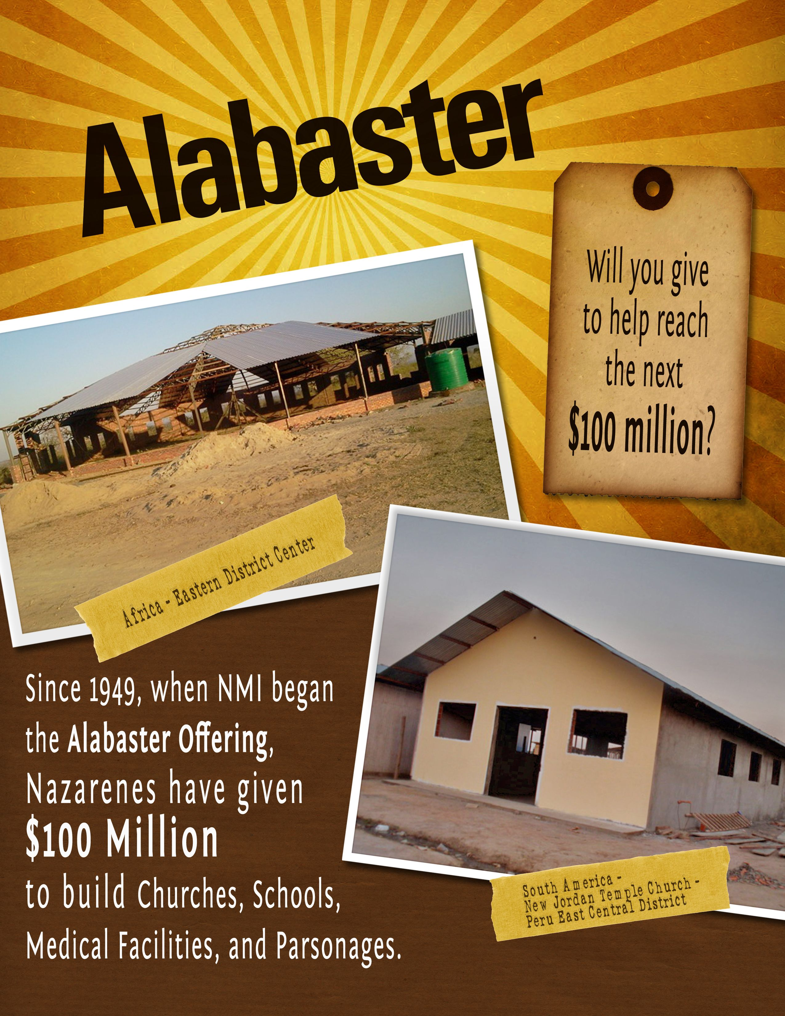 Pray for the Alabaster offering received this month that