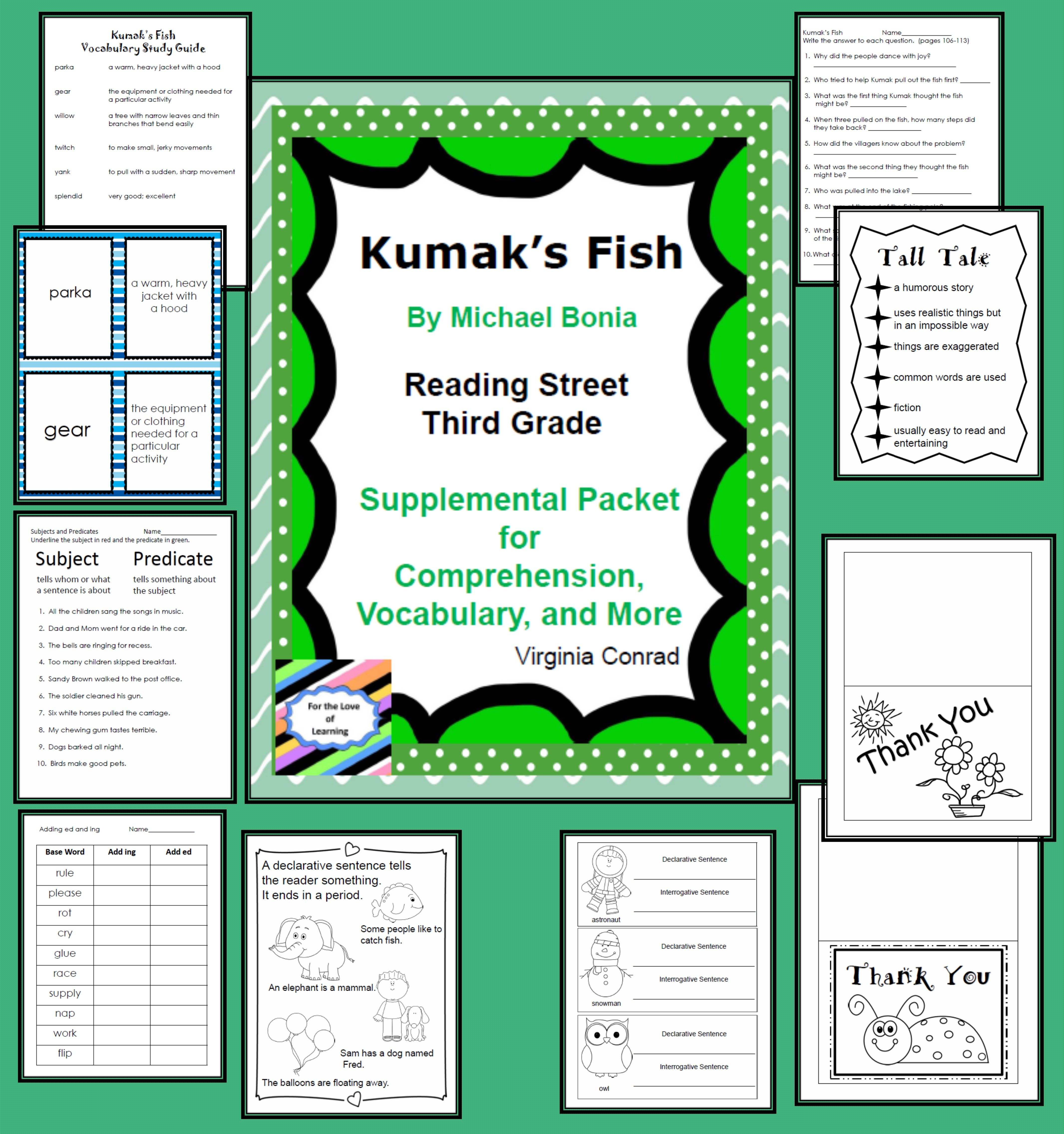 Lots Of Fun And Practical Things For Comprehension Vocab
