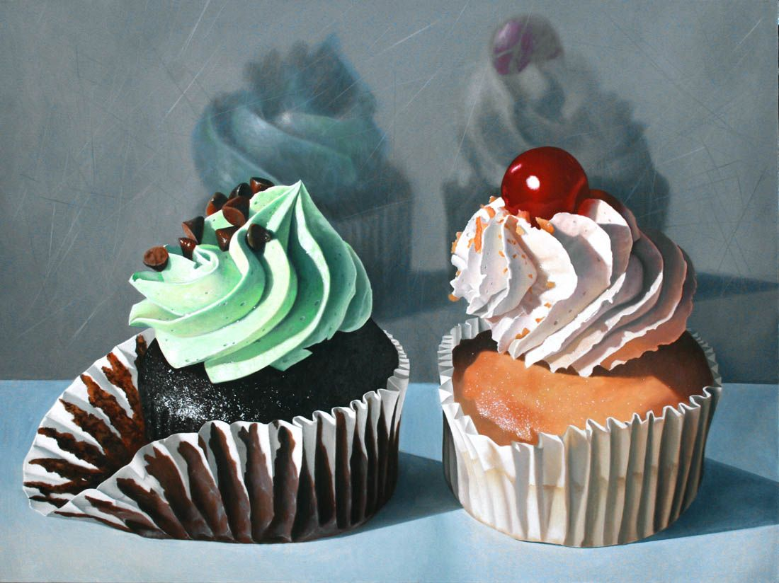 Cupcake Oil Paintings Wwwpixsharkcom Images