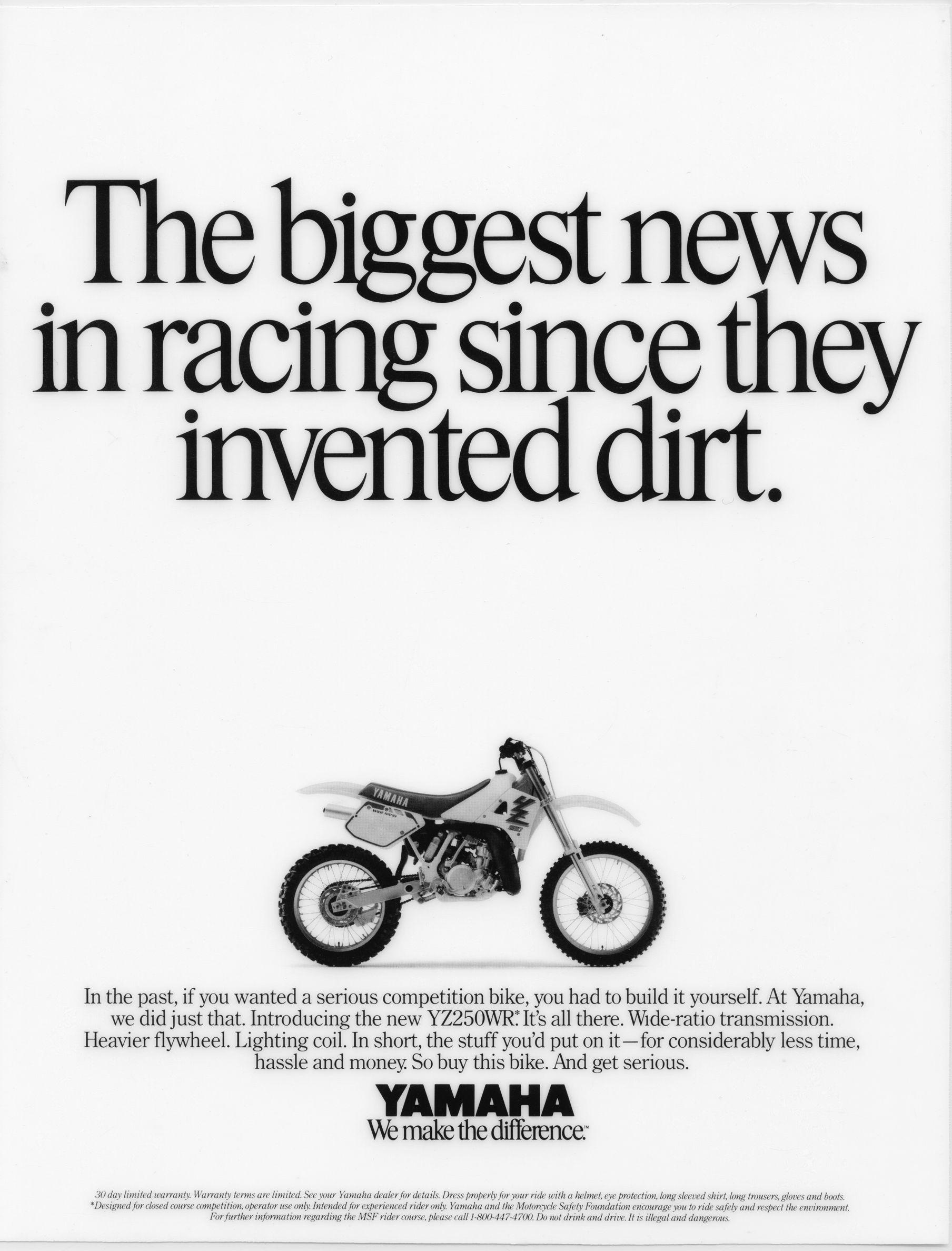 Yamaha Motorcycle Ad