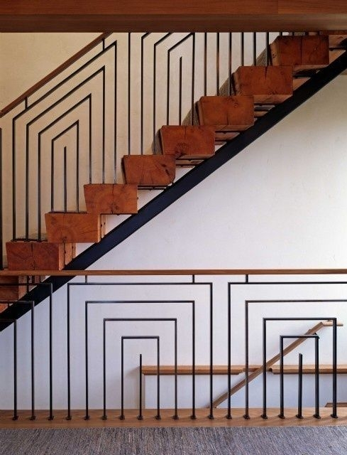 Ike Kligerman Barkley S Villa On The Atlantic Finds | Mid Century Modern Stair Railing