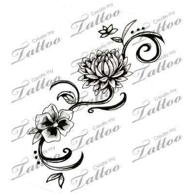 Chrysanthemum tattoo...perfect, I'd add a rose and a