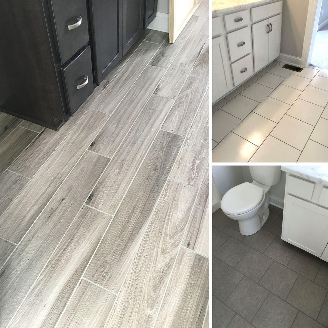More recent floor tile installs! Wood Tile Concrete