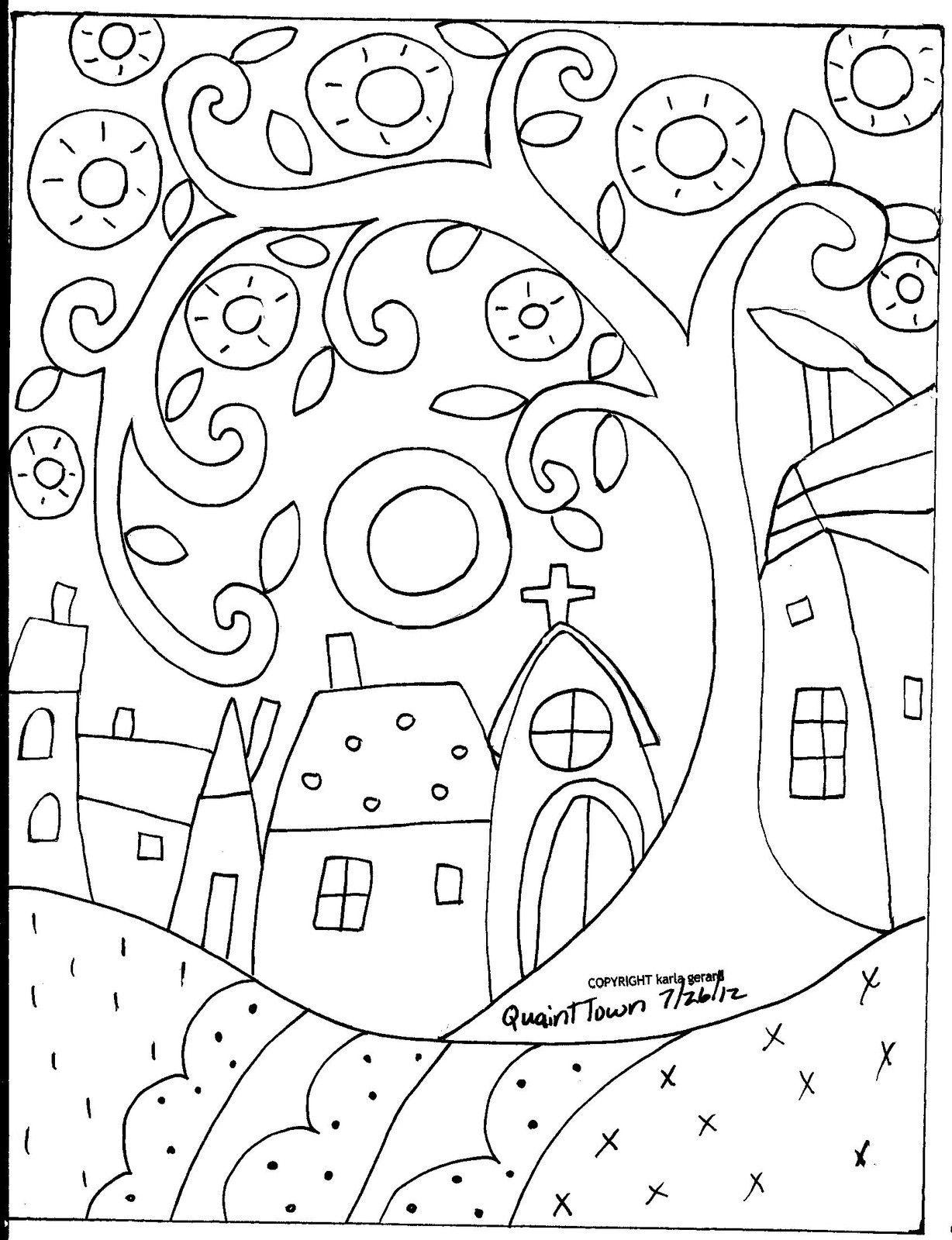 Details About Rug Hooking Paper Pattern Quaint Town Folk