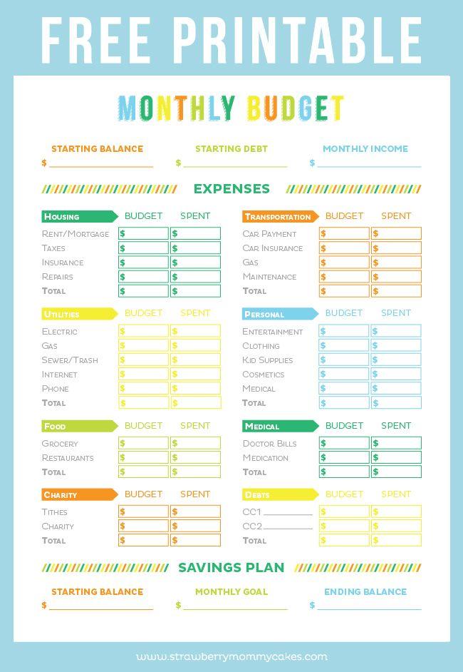 25 Einzigartige Printable Budget Worksheet Ideen Auf