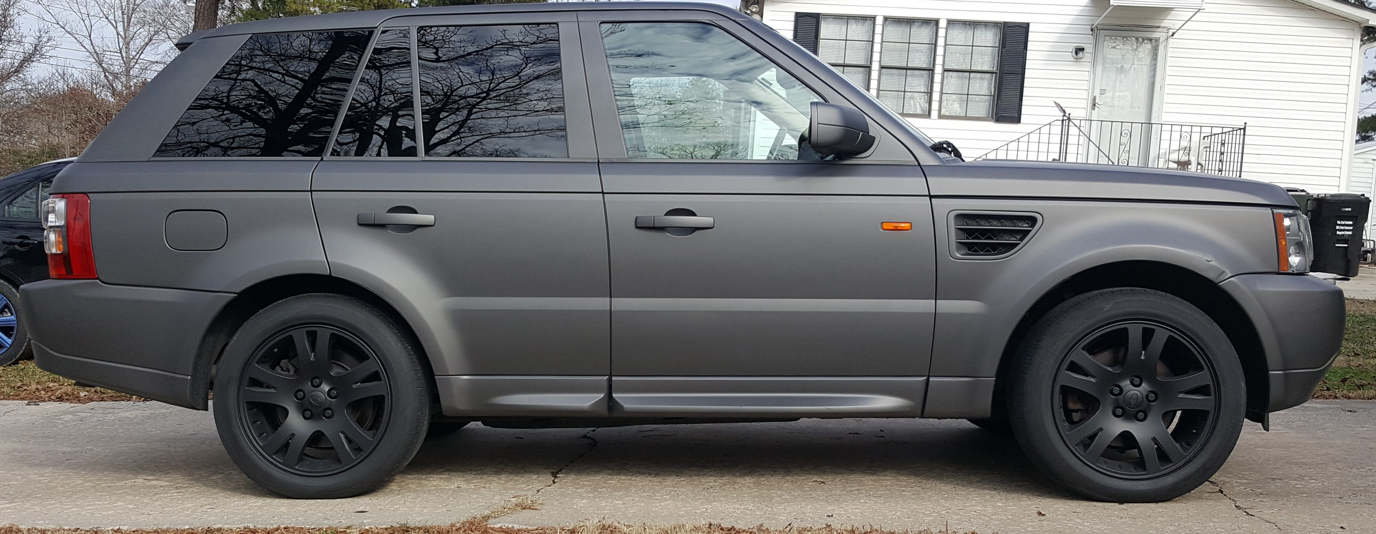 Anthracite Grey Range Rover Matte Black wheel all done with