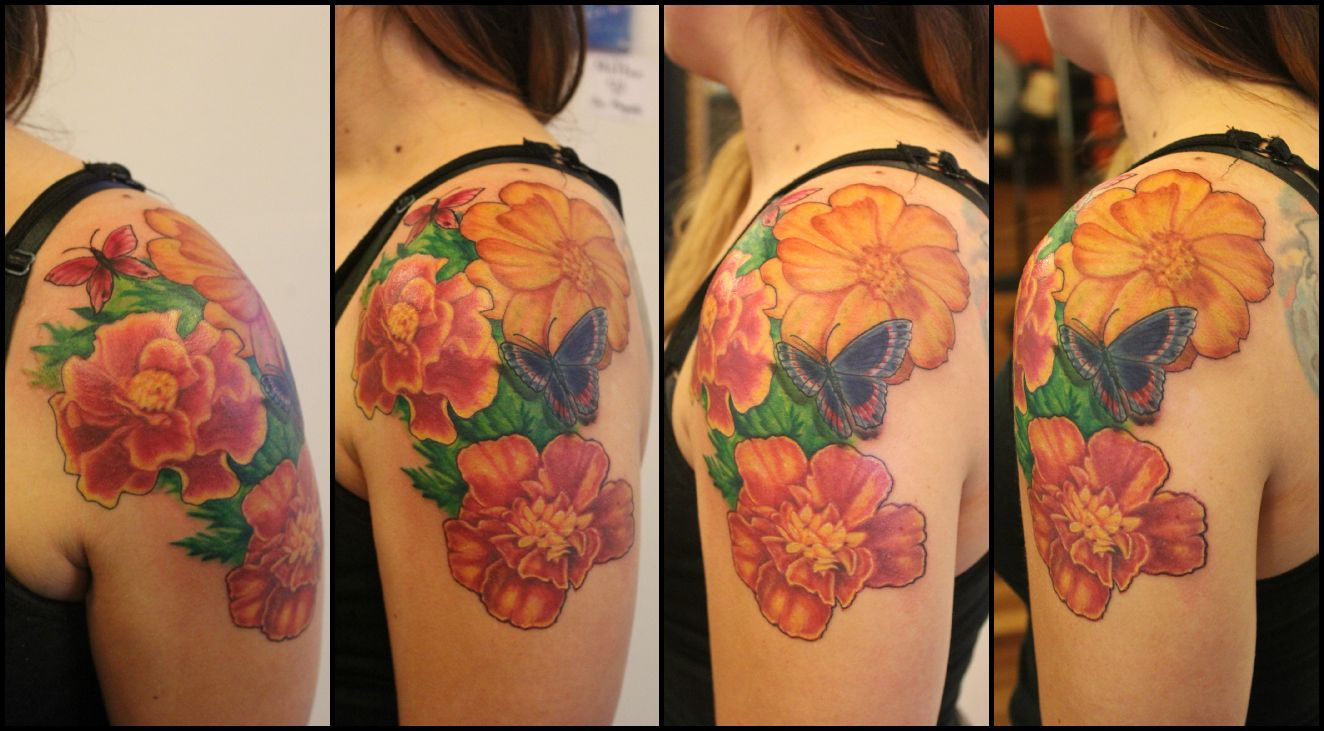 marigold tattoo Google Search Tattoos Pinterest