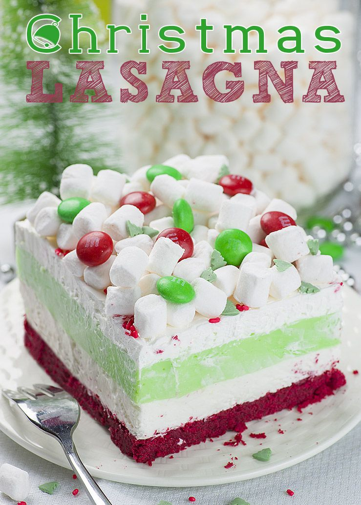 Christmas Lasagna is whimsical layered dessert that will