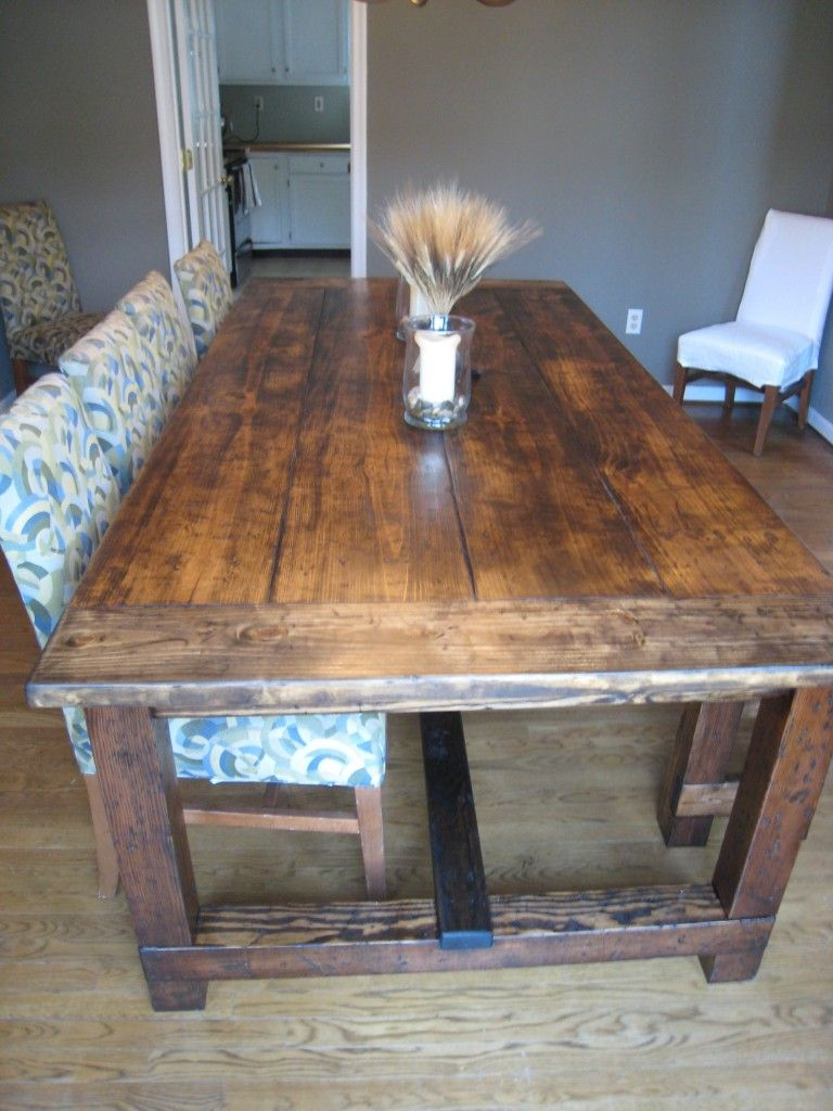 DIY Friday Rustic Farmhouse Dining Table Big family