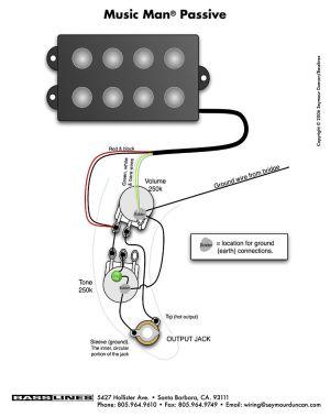 P Bass Wiring Diagram  Diagram Stream