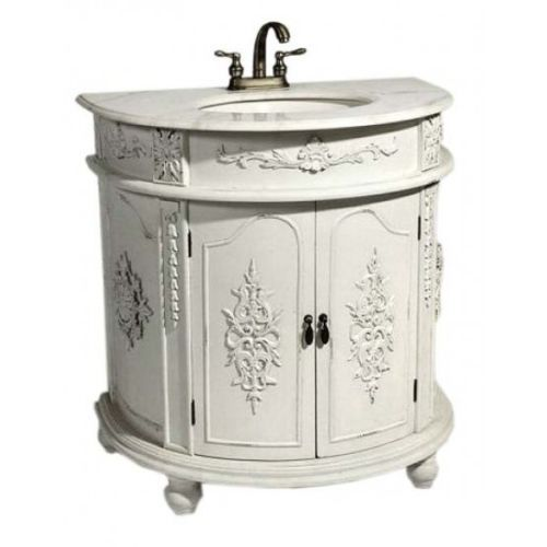 top antique white shab chic french bathroom vanity unit sink