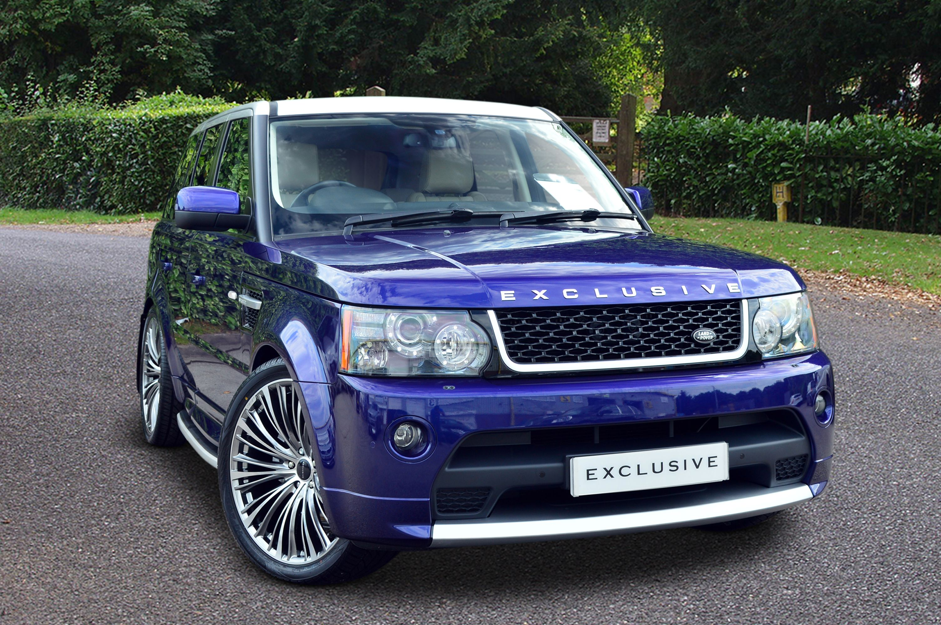 Range Rover Sport finished in a metallic Bali Blue paint The roof